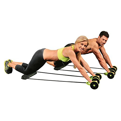 Abdominal+Machine Products : New Sport Core Double AB Roller Exercise Equipment,Professional Ab Wheel Roller Supports,Abdominal Workout Machine