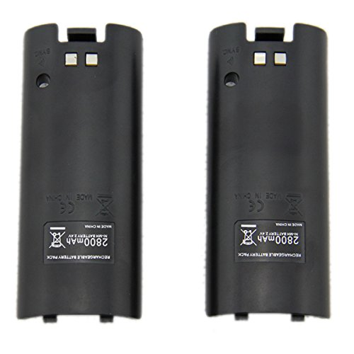 TKOOFN 2 Packs 2800mAh Rechargeable Batteries for Nintendo Wii Remote Controller Backup and Replacement - W0010 Photo #2
