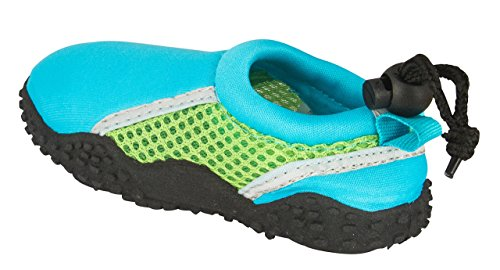 Shocked Toddler Neoprene and Mesh Water Beach Shoe Size 11-12 Turquoise/Green/Gray by Shocked (Image #3)