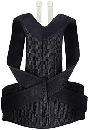 男性女性のための鋼板支柱サポートベルトの姿勢のコルセットの訂正を用いる調節可能な背部姿勢の補正装置 (Size : S)