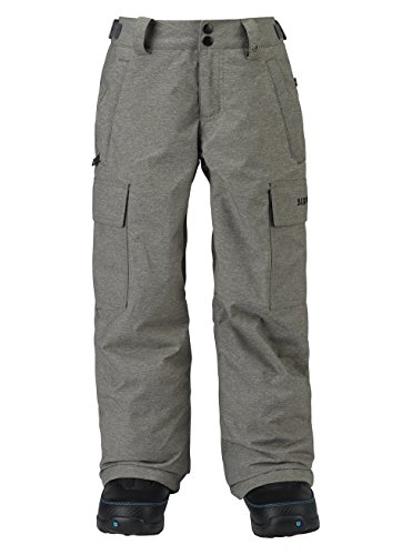 Burton Kids Boys Exile Cargo Snow Pants Grey Heather Size Small by Burton
