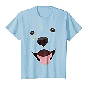 Kids Labrador Face Shirt | Funny Cute Lab Dog Costume T-Shirt 8 Baby Blue