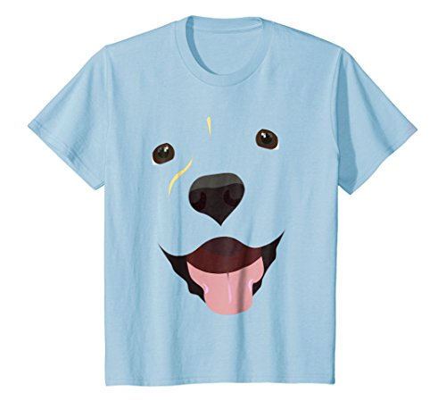 Kids Labrador Face Shirt | Funny Cute Lab Dog Costume T-Shirt 10 Baby Blue ()