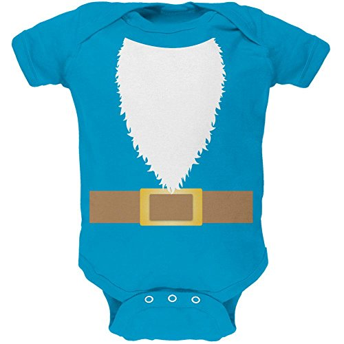 Halloween Lawn Gnome Costume Soft Baby One Piece Turquoise 6 (Boy Gnome Costume)