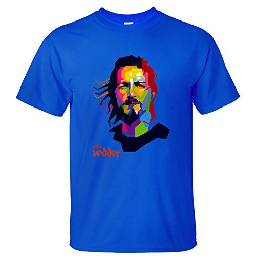 PAYP Eddie Vedder Music Men Cotton T Shirt blue L