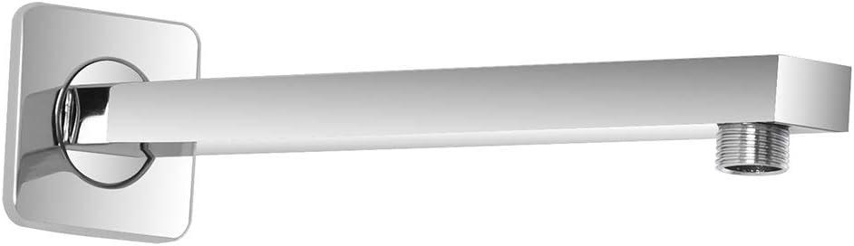 Braccio per soffione Doccia 40 cm in Acciaio Cromato Attacco Universale Ideale per soffione
