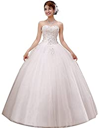 2017 Gorgeous Sweetheart Beaded Lace Appliqued Ball Gown Wedding Dress Ivory Pure White