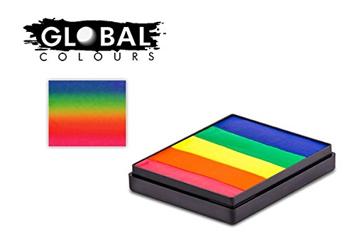Global Colours Face Paint - Rainbow Cake Neon Rainbow 50gr