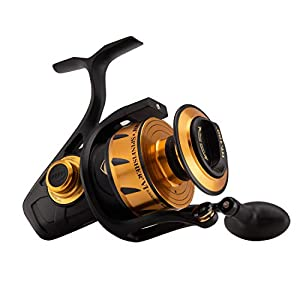 Penn Spinfisher VI 6500BLS Spinning Fishing Reel, Black Gold, 6500