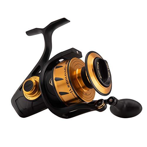 - Penn Spinfisher VI 6500BLS Spinning Fishing Reel, Black Gold, 6500