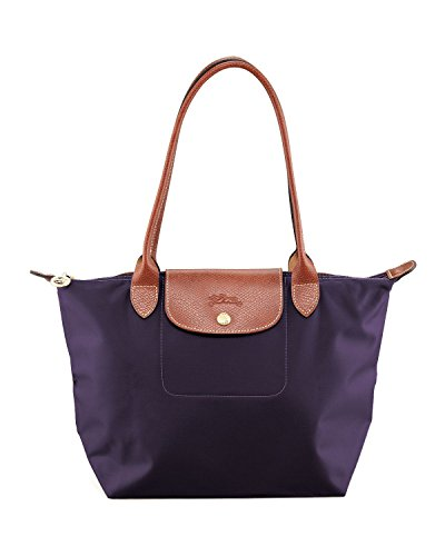 Longchamp Paris Le Pliage Medium Shoulder Tote in Bilberry