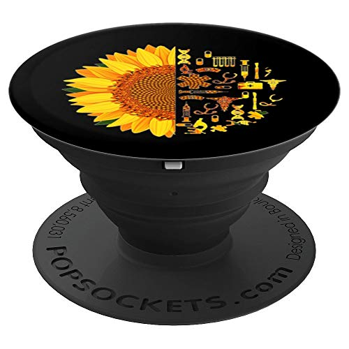 Nurse Sunflower Nursing Student Doctor Med Student - PopSockets Grip and Stand for Phones and Tablets