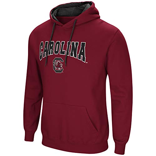 (Colosseum NCAA Men's-Cold Streak-Hoody Pullover Sweatshirt with Tackle Twill-South Carolina Gamecocks-Garnet-XL)