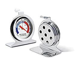 Taylor Precision Products Nicolife Classic Series Large Dial Thermometer 2 Pack Freezer Refrigerator