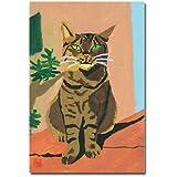 猫の足あと ポストカード 「おすまし」