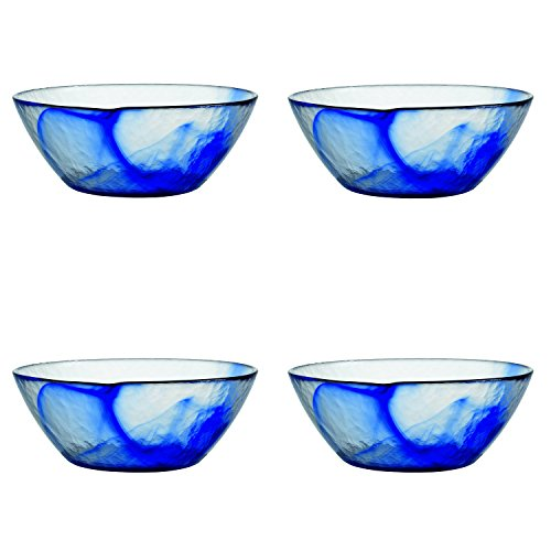 Bormioli Rocco Murano Glass Salad and Soup Serving Medium Bowl, 9-Inch, Blue, Set of (Bormioli Rocco Murano)