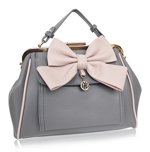 Top London Taupe grey L5457BKCM LYDC Women's Erhältlich Schwarz Braun Bag Cream Multicolour Pink in Handle Navy Grau xf8E8wdHq