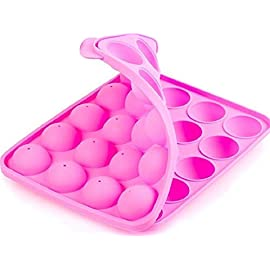 BA-PRO JNXD-119, 20-Cavity Ball Shape Baking Mold, Muffins Cupcakes Cookware Silicone Set, Best for Brownies, Pies, Lollipops, Candies, Jelly and Chocolate, Ice Cream Tray, 228/186/40mm (L/W/H), Pink 7 BAKING EXPERIENCE with ZERO FRUSTRATION It's Humongous: a Multi-Use Cookware of Sturdy yet Flexible Double Tray Cupcake Pan that Will Carry All Baking Endeavors with Embarrassing Ease and Effortless Comfort. Elegant Shape, Available Here in Our USA Stock
