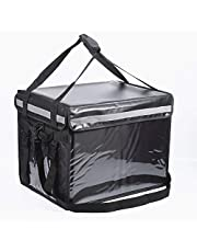 62L Food Delivery Bag, Waterproof,Durable, Standable, Hot and Cool Food,Pizza,Drink,Cooler Bag,Insulated Bag for Catering | Uber Eats Bag (62L-Black)