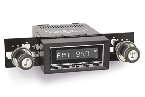 Retro Manufacturing Long Beach Radio with Chrome Face and Bezel & Knobs Kit LC-M4-216-27-87
