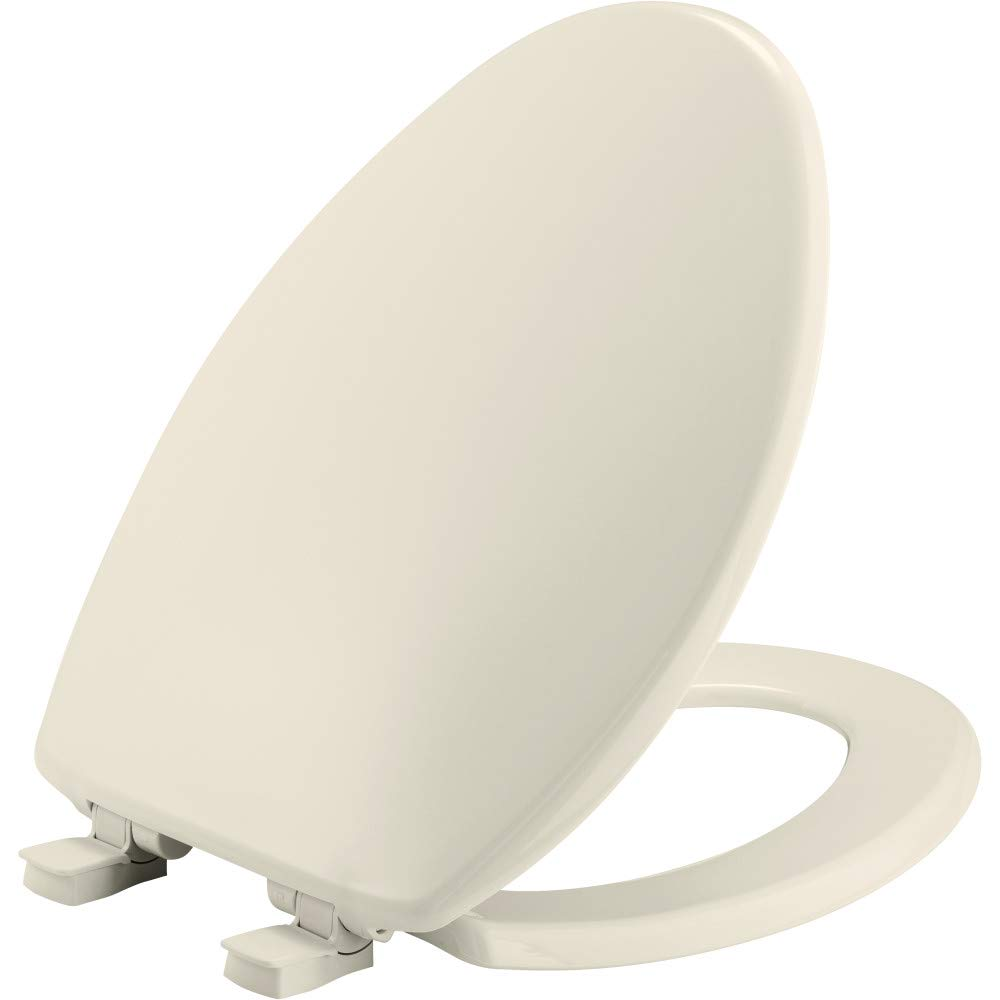 Plastic BEMIS 1730SLEC 006 Toilet Seat will Slow Close and Removes Easy for Cleaning Bone ELONGATED
