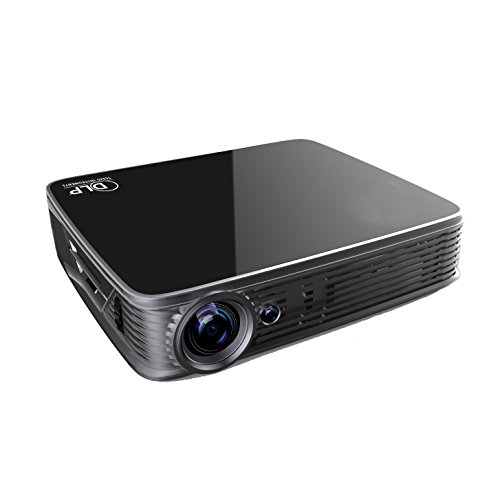 Deeirao DLP Home Theater Projector Android5.1 2G RAM Mini Portable Build in Wifi 1280x800 Native Resolution Support 4K 2160P 2D Convert To 3D Bluray 3D GT918 Black by Deeirao