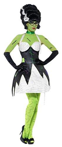 [Smiffys Women's Black/White Fever Frankensteins Bride Costume -US Dress 2-4] (Frankensteins Bride Costume)