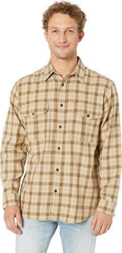 Filson Men's Lightweight Alaskan Guide Shirt Khaki/Brown Plaid X-Large