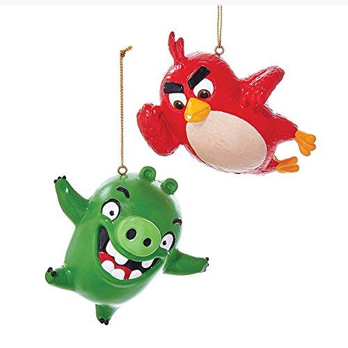Angry Bird Christmas Ornaments - Kurt Adler 3 25-3 5