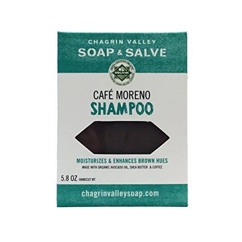 Organic Natural Shampoo Bar, Café Moreno 2X Pack, Chagrin