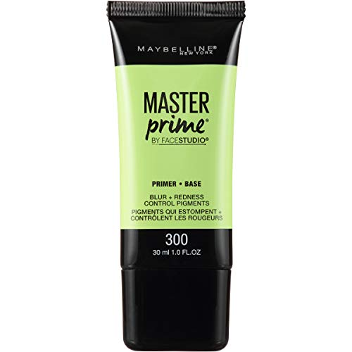 Maybelline New York Face Studio Master Prime Primer, Blur + Redness Control, 1 Fluid Ounce (Best Green Concealer For Acne)