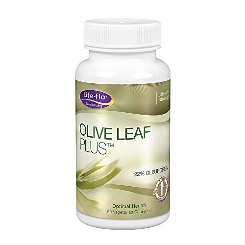 Life-Flo Olive Leaf Plus, Standardized Olive Leaf Extract, Clinical Strength, 30% Oleuropein, Capsules, 60-Capsules