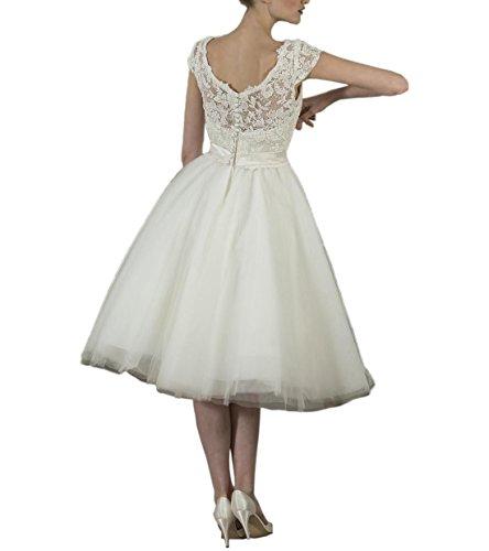 de Abaowedding las marfil mujeres de vestido blanco vwHqxw7a