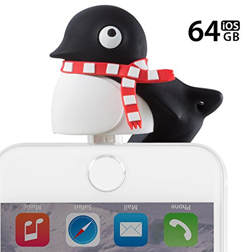 [Apple MFi Certified] 2-in-1 Lightning/USB 3.0 64GB Flash Drive for iPhone iPad iPod Mac PC, Bone Collection iOS OTG Memory Stick Thumb Drive Novelty Cute Animal Cartoon Design - Penguin by Bone (Image #7)