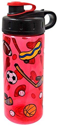BPA Free 16 oz Sports Print Water Bottle By Cool Gear (Sport Print)