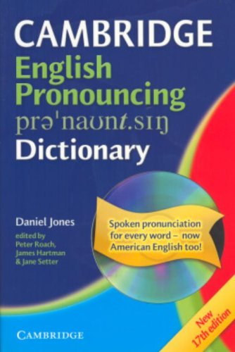 Cambridge English Pronouncing Dictionary Paperback with...