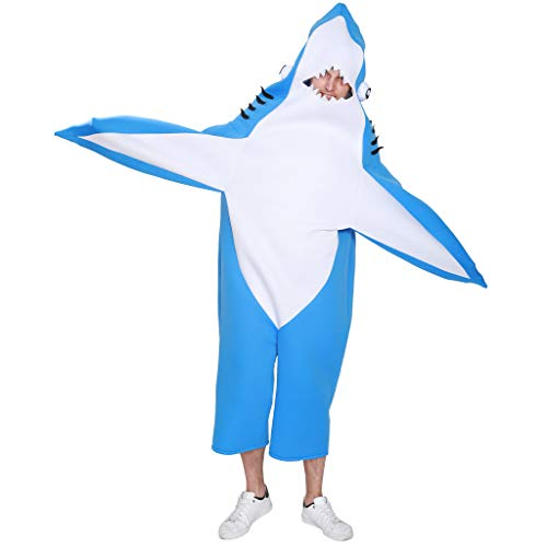Shark Mascot Costumes - EraSpooky Adult Shark Costume Blue Mascot