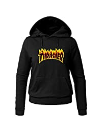 Thrasher Flame For Ladies Womens Hoodies Sweatshirts Pullover Tops