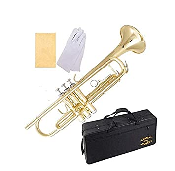 Glory Brass Bb Trumpet with Pro Case +Care Kit, Gold, No NEED TUNING,Play  directlly  More COLORS Available ! CLICK on LISTING to SEE All Colors