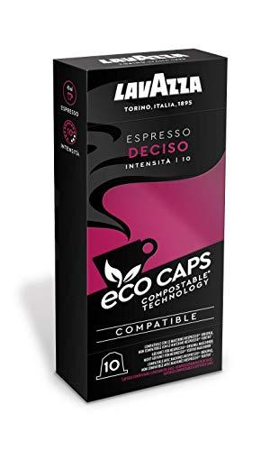 Lavazza Eco Kaffeekapseln - Espresso Deciso - Nespresso kompatibel - 100 Kapseln - 10er Pack (10 x 53g)