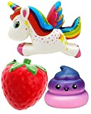 Slow Rising Squishies Jumbo Scented Squishy Toy (Galaxy Poop, Unicorn, Strawberry) Unique Pack of Most Popular and Newest Squishies. Fast Delivery and Free with Prime.