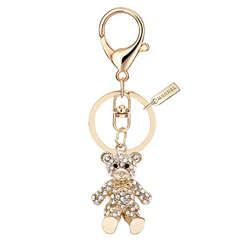 Bling Crystal Teddy Bear Keychain Creative Packaging Design Box MZ845-1 ()