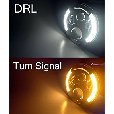 DOT Approved 7'' Black Cree LED Headlights + 4 '' LED Fog Lights for Jeep Wrangler 97-2020 JK TJ LJ: Automotive