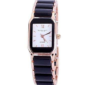 Amazon.com: Womens Rose Gold Plated Ceramic 5 Colors Watch ...