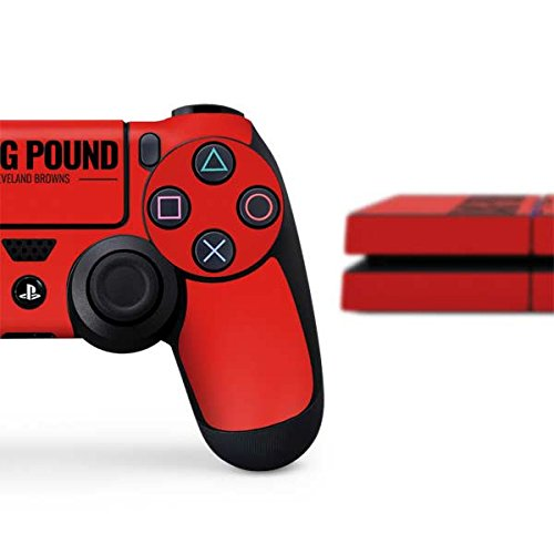 Skinit NFL Cleveland Browns PS4 Console and Controller Bundle Skin - Cleveland Browns Team Motto Design - Ultra Thin, Lightweight Vinyl Decal Protection