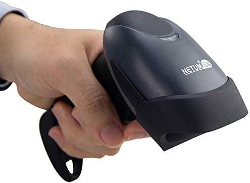 NETUM Handheld Laser Barcode Scanner 1D Lector de Escáner de Código de Barras con Cable USB Aplicaciones en supermercados, farmacias, panaderías, bibliotecas, Tiendas, NT-M1