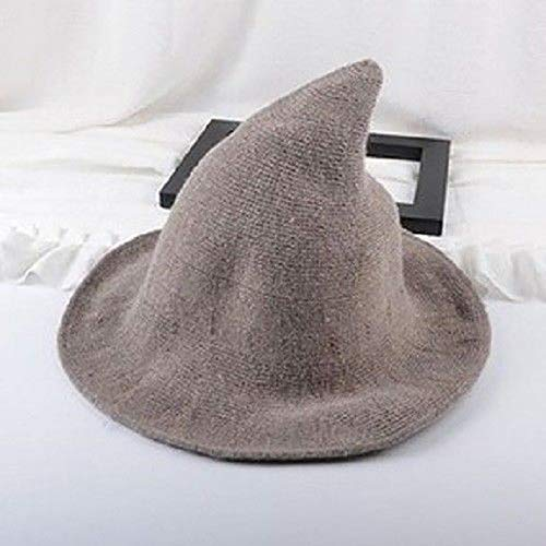 Ellen's Halloween Costume 2019 (2019 New Modern Halloween Witch Hat Woolen Girl Lady Made From Fashionable Sheep Wool Halloween Party Lady Girl Witch)