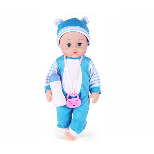 Realistic Baby Dolls Cute Newborn Lifelike Little Baby Dolls made of Eco-friendly Glue by Magical Imaginary (blue)