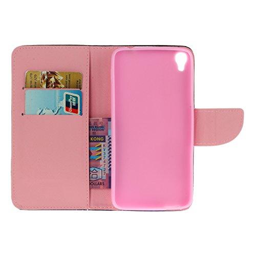 Ecoway Serie pintada Caja del teléfono de moda para Alcatel Onetouch Idol 3 (4,7 zoll) - Couple Campanula
