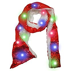 Colorful LED Flashing Red Scarf